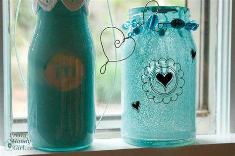 diy tutorial diy jars diy spray painted glass jars