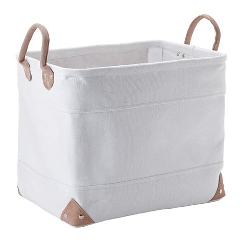 Buy Aquanova Lubin Storage Basket White Medium Amara Bathroom Storage Baskets White
