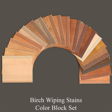 Birch Cabinet Stain Colors by Birch Wiping Stains Color Block Set Walzcraft