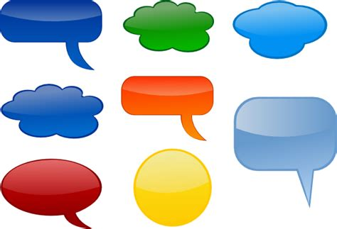speech bubbles clip art at clker com vector clip art