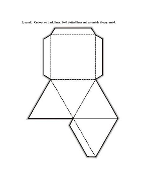 geometry net templates free printable 3d shape nets template learning printable