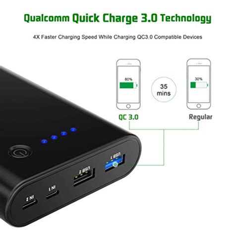 Hc007 7 Ports Qualcomm Qc 3 0 Intelligent Usb Charger charge 3 0 power bank choetech 10400mah portable charger external battery pack with dual
