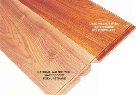 Dyed Walnut Finishing Tips Woodworking Archive