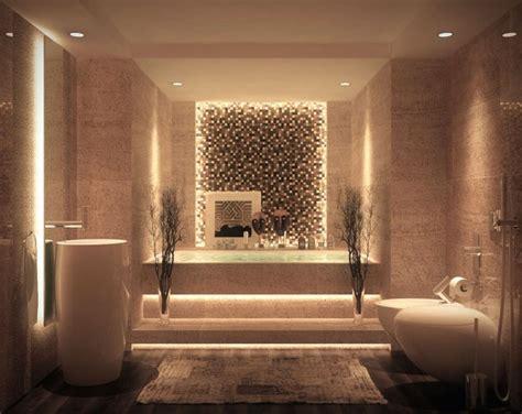 baignoire en mosaique salle de bain de luxe de design opulent et exotique