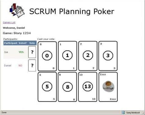 scrum planning sourceforge net