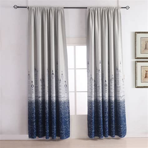 blackout curtain set 1pc thermal insulated blackout curtain printing castle