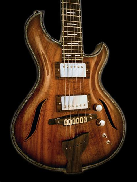 Handmade Electric Guitar - custom electric guitars and semi hollow archtop and