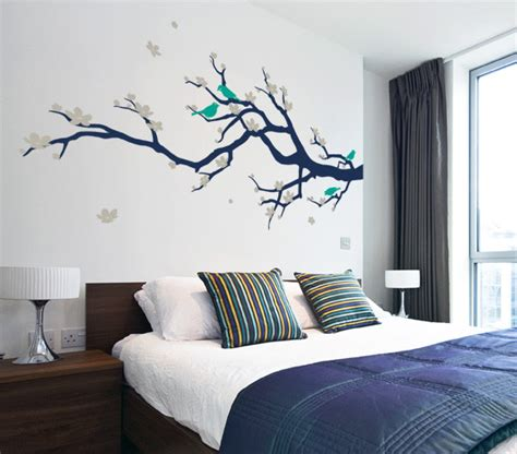 Under The Sea Wall Stickers cherry blossom branch with birds contemporary wall
