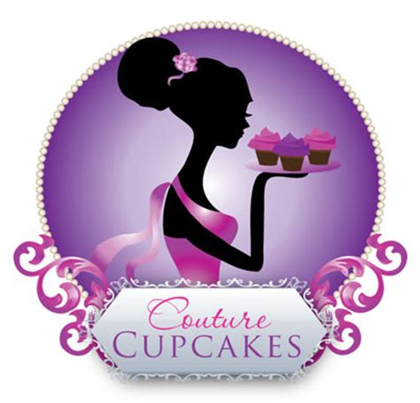 Color Palette Ideas For Websites couture cupcake logo feminine silhouette design