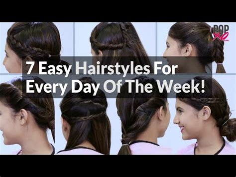 Easy Hairstyles For Everyday Of The Week | 7 easy hairstyles for every day of the week popxo youtube