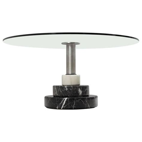 Marble Glass Dining Table Lodovico Acerbis And Giotto Stoppino Dining Table In Marble And Glass For Sale At 1stdibs