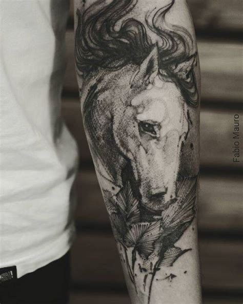 tattoo horse arm sketch work horse tattoo on the left inner forearm