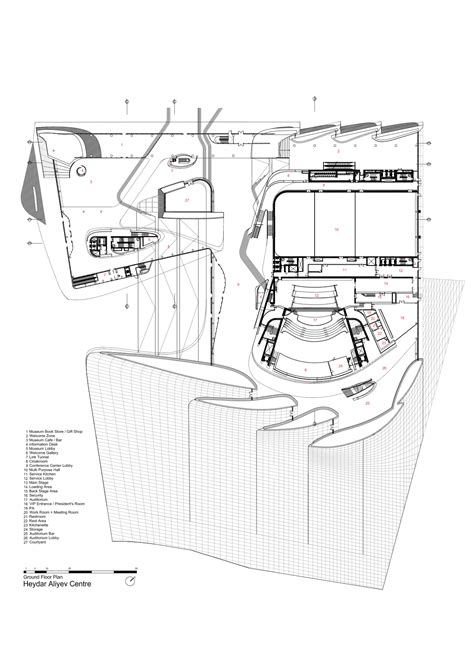 zaha hadid floor plan gallery of heydar aliyev center zaha hadid architects 40