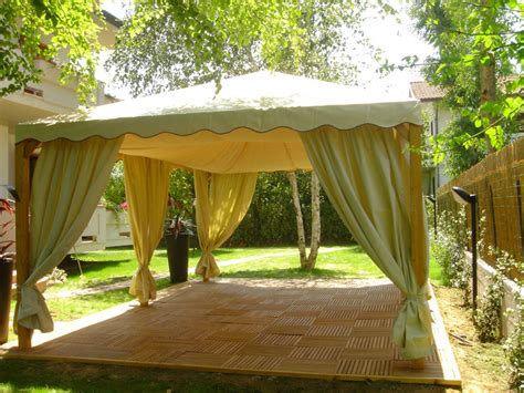 gazebo con tende prontolegno