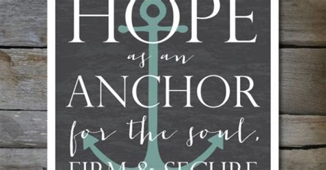Chalkboard Love And Hope Anchors - hope as an anchor bible verse 8 x10 or 11x14 print