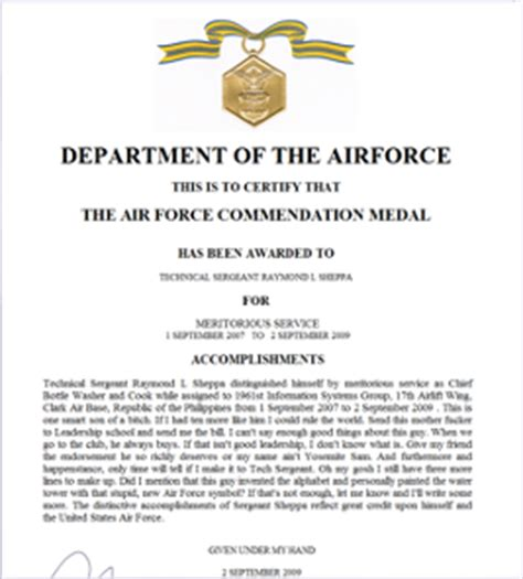 air force awards and decorations