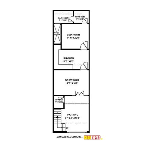 50 sq ft house plan for 15 feet by 50 feet plot plot size 83