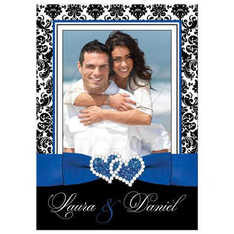 photo template wedding invitation royal blue white