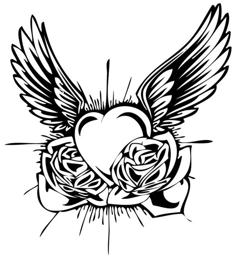 tribal love tattoo designs flash