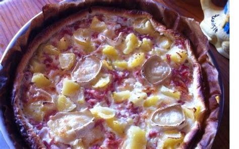 recette pizza ch 232 vre lardons pomme de terre 233 conomique