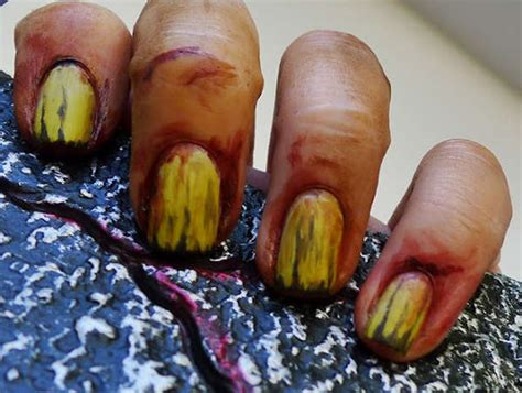 zombie nails tutorial menacing undead manicures nail buff zombie hands tutorial