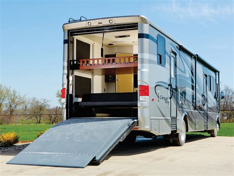 class a motorhome with garage
