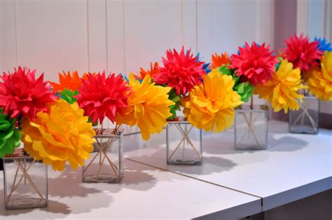 Paper Flower Ideas - colorful paper flowers wedding reception d 233 cor ideas