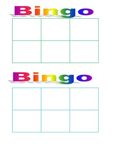 6 x 6 bingo card template editable soni32 profile tes