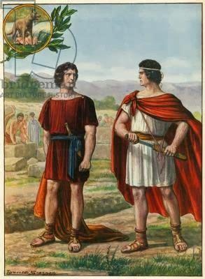 legend  romulus  remus tells  story   ro