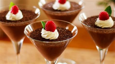 Chocolate Lava Mousse vanilla custard dessert easy meals with recipes by chef joel mielle recipe30