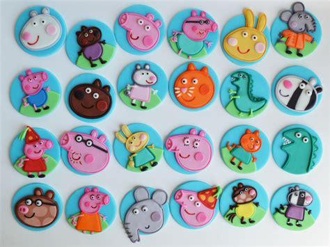 peppa pig fondant cupcake toppers jam cakes pinterest fondant cupcake toppers pig party