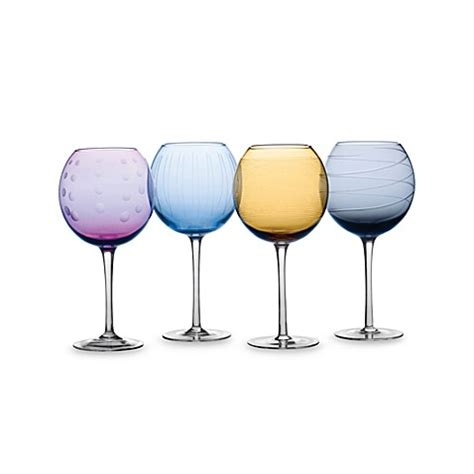 bed bath and beyond wine glasses mikasa 174 cheers color 24 1 2 ounce balloon goblets set of