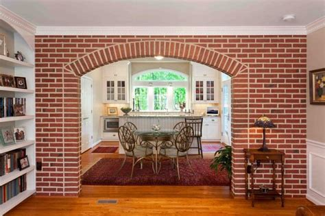 Arch Between Kitchen And Living Room by Brick Archway From Living Room To Kitchen Traditional
