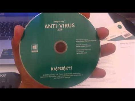 Cd Antivirus Kaspersky unboxing kaspersky antivirus 2016