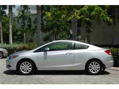 Honda Warranty 2012 by Sell Used 2012 Honda Civic Ex L Coupe Warranty Leather