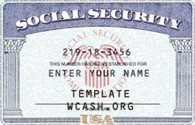 social security card template photoshop ssn template editable photoshop file psd driver license