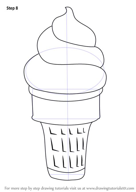 draw cold learn how to draw cone creams step by step