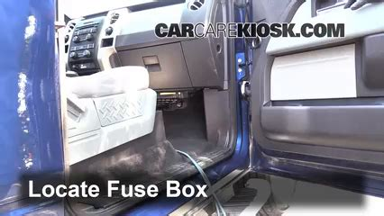 interior fuse box location: 2009 2014 ford f 150 2012