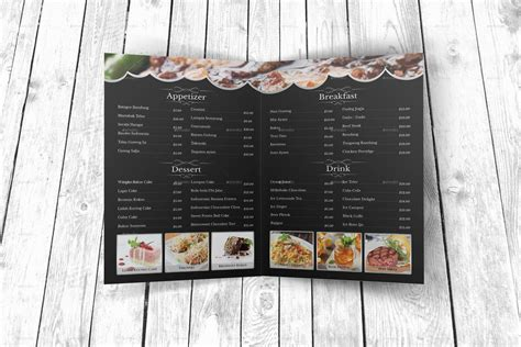 modern menu templates modern restaurant menu template by geelator graphicriver