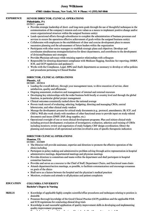 Director Of Operations Resume by Director Of Operations Resume Sles Annecarolynbird