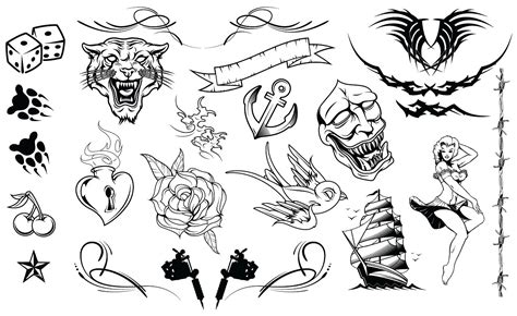 tattoo vector images tattoos vector pack illustrations creative market