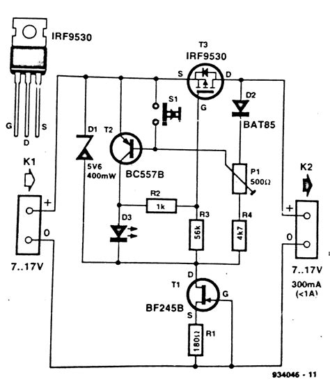 electronic fuse circuit diagram circuit and schematics