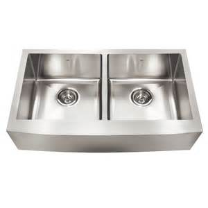 Lowes Sinks Kitchen Kindred Qdfs31b 20 Apron Front Farmhouse Stainless Steel Kitchen Sink Lowe S Canada