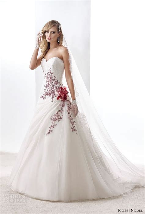 wedding dress with color colorful gowns with sleeves www imgkid the image