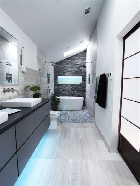 Modern Bathrooms Houzz Mid Sized Bathroom Design Ideas Remodels Photos