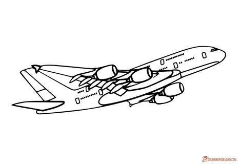 airplane coloring pages free printable b w pictures
