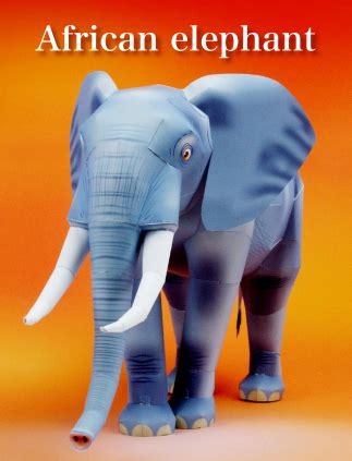 Papercraft Elephant - elephant papercraft depapercraftblog