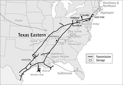 texas eastern transmission map texas eastern