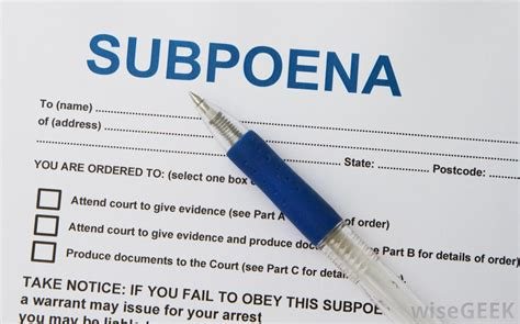 Subpoena Phone Records Divorce What Is A Subpoena With Pictures