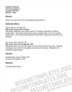 hair stylist cv template hair stylist assistant resume sle http